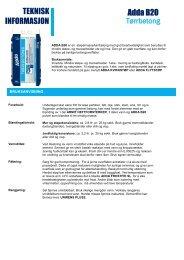 Produktblad - ADDA Byggkjemi AS