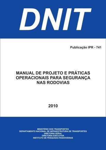 manual de projeto e práticas operacionais para ... - IPR - Dnit