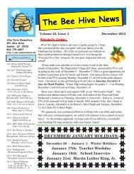 The Bee Hive News - Alice Drive Elementary School