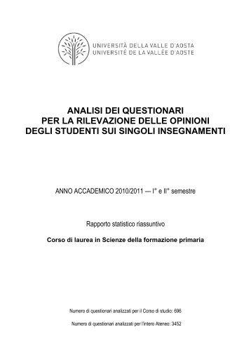 SFP 2010/2011 - Università della Valle d'Aosta