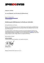 Einführung der EORI-Nummer in ATLAS zum 10.03.2012