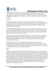 FDA Regulation of Genetic Tests - Genetics & Public Policy Center