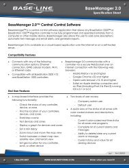 BaseManager 2.0 Technical Specification - Baseline Systems