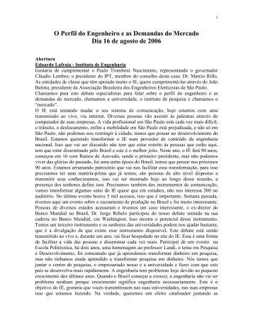 Arquivo para download - arqnot131.pdf - Instituto de Engenharia