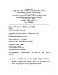 Sekapur Sireh - UMS - Universiti Malaysia Sabah