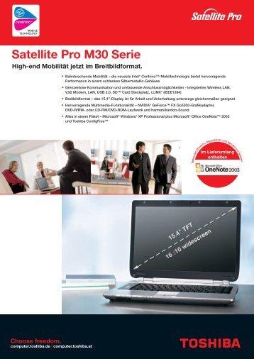 Satellite Pro M30 Serie - Toshiba