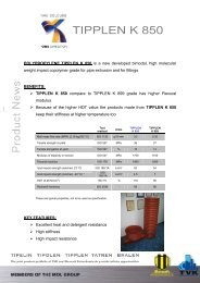 Product news K 850 (pdf, 298 kB) - TVK