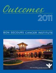 Bon SecourS cancer InStItute - Bon Secours Richmond Health System