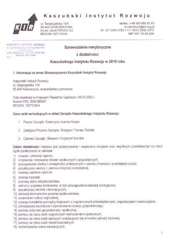 Kaszubski Instytut Rozwoju - Wyszukiwanie Organizacji Pożytku ...