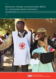 BCC volunteers - International Federation of Red Cross and Red ...