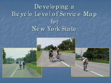 Bicycle Level of Service for New York State