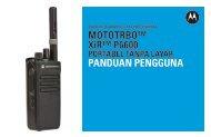MOTOTRBO XiR P6600 Portabel Tanpa Layer Pandual Pengguna