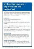 art learning resource – impressionist and modern art - National ... - Page 2