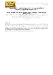 melhorando o gerenciamento de laboratórios institucionais de ...