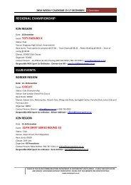 MSA WEEKLY CALENDAR 15-17 December