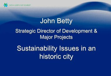 John Betty - Strategic Director, Development and Major Projects ...