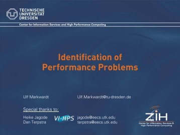 Identification of Performance Problems