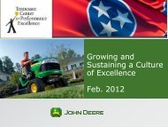 Growing and Sustaining a Culture of Excellence - Tennessee Center ...