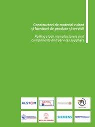 Constructori de material rulant şi furnizori de ... - Catalog Feroviar