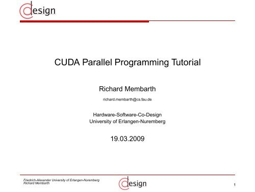 CUDA Parallel Programming Tutorial