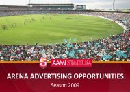 ARENA ADVERTISING OPPORTUNITIES - sanfl
