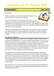 nyhedsbrev juni 2013.pdf - Skolen på la Cours Vej