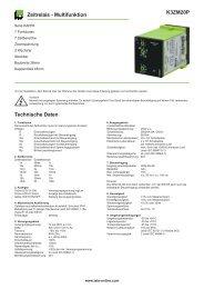 K3ZM20P Zeitrelais - Multifunktion Technische Daten