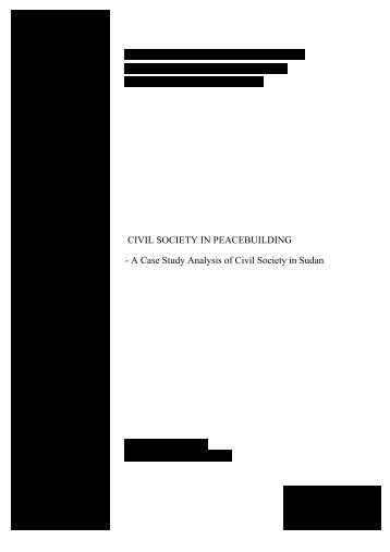 CIVIL SOCIETY IN PEACEBUILDING - A Case Study Analysis of ...