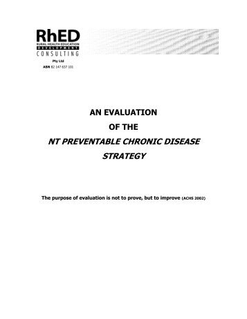 PCD Strategy Evaluation 2007.pdf - NT Health Digital Library ...