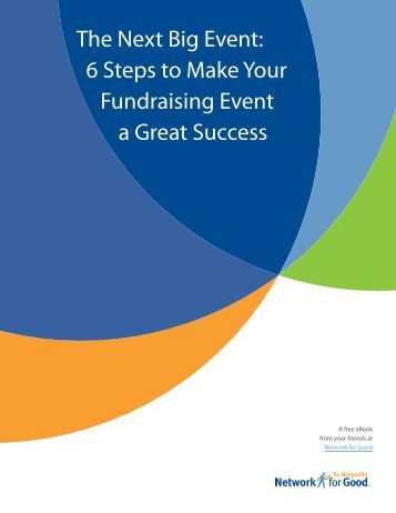 The Next Big Event: 6 Steps to Make Your ... - Nonprofit Alliance