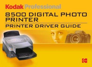 PRINTER DRIVER GUIDE - Kodak