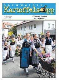 Aus der Region - Odenwälder Kartoffelsupp - Essen und Erleben im ...