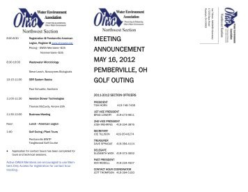 meeting announcement may 16, 2012 pemberville, oh golf outing