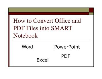 How to Convert Office and PDF Files into SMART Notebook