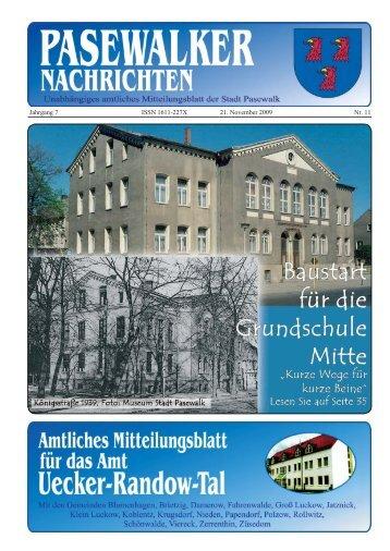 Jahrgang 7 ISSN 1611-227X 21. November 2009 ... - Stadt Pasewalk