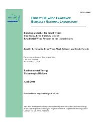 Report PDF - Electricity Market and Policy - Lawrence Berkeley ...