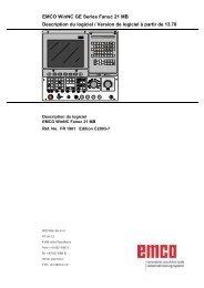 EMCO WinNC GE Series Fanuc 21 MB Description du logiciel ...