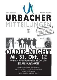 Mitteilungsblatt vom 31.10.2012 - Gemeinde Urbach