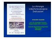 La chirurgia videotoracoscopica. Indicazioni.pdf - Ospedale San Carlo