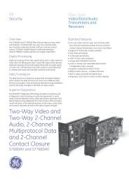 Data Sheet -- 2-Channel to 20-Channel Video - Interlogix