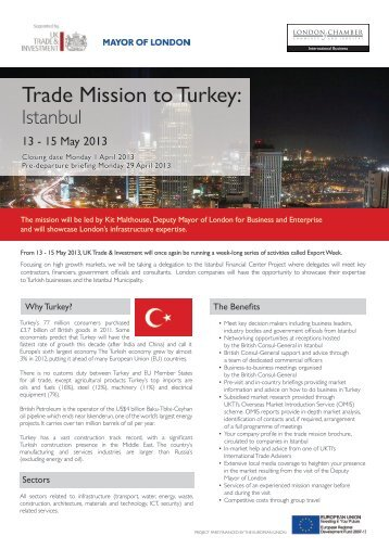 Trade Mission to Turkey - London Chamber of Commerce and Industry