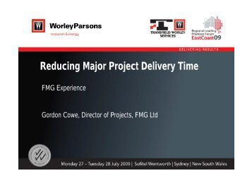 Reducing Major Project Delivery Time - Transfield Worley