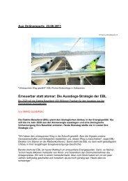 Erneuerbar statt atomar: Die Ausstiegs-Strategie der EBL - Steiner, Urs