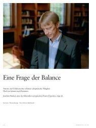 Eine Frage der Balance - Dr. Theo Schöller-Stiftungslehrstuhl für ...