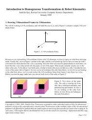 Introduction to Homogeneous Transformations ... - Elvis.rowan.edu