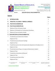 desarrollo administrativo - Municipio de Guadalupe
