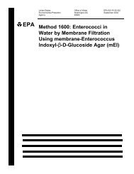 Method 1600: Enterococci in Water by Membrane Filtration Using ...