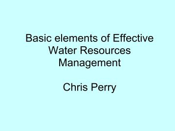 Basic elements of effective water resources ... - Hydrology.nl
