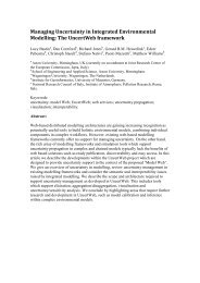 Managing Uncertainty in Integrated Environmental Modelling - Aston ...