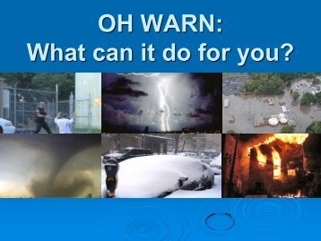 What is OH WARN? - Ohio Water Environment Association